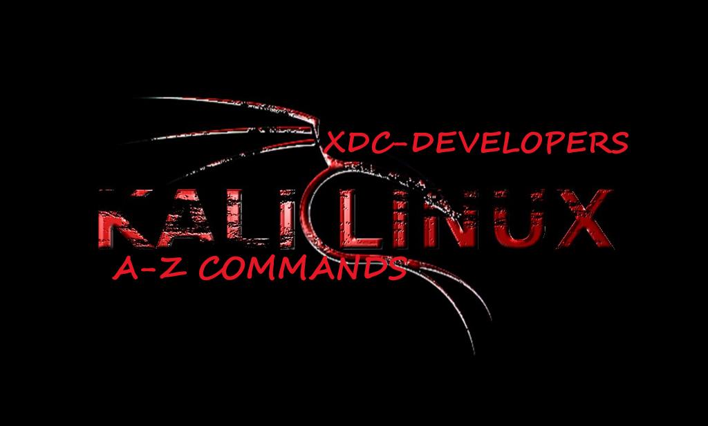 A-Z Kali Linux Commands (pdf) – XDC- DEVELOPER